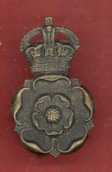 Yorkshire Dragoons Yeomanry OR's bronze beret badge
