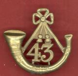43rd Monmouth L.I. Regiment of Foot Victorian OR's glengarry badge